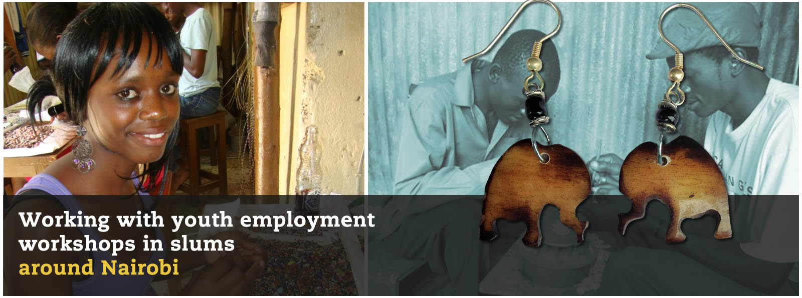Working with youth employment workshops in slums, Africa