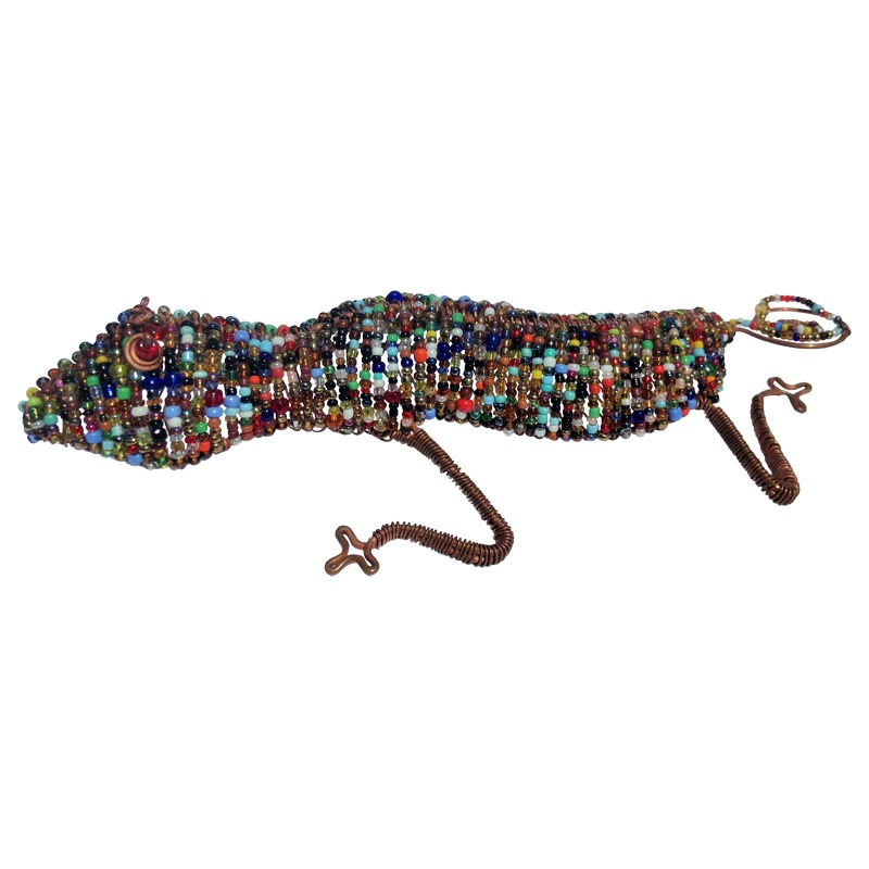 beaded gecko - large
