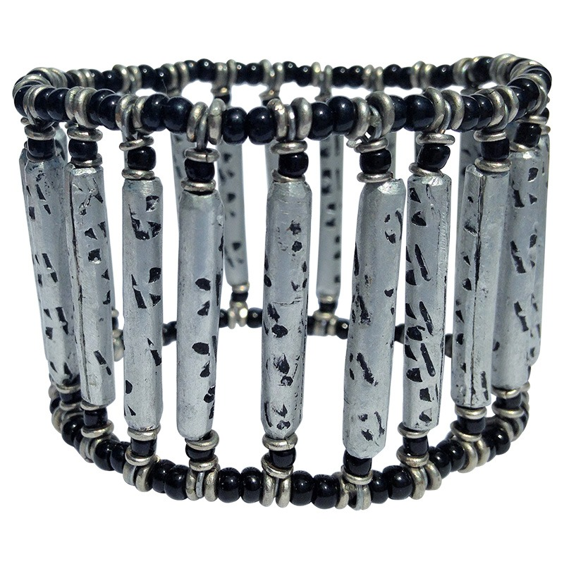 recycled rolled cooking pot bracelet