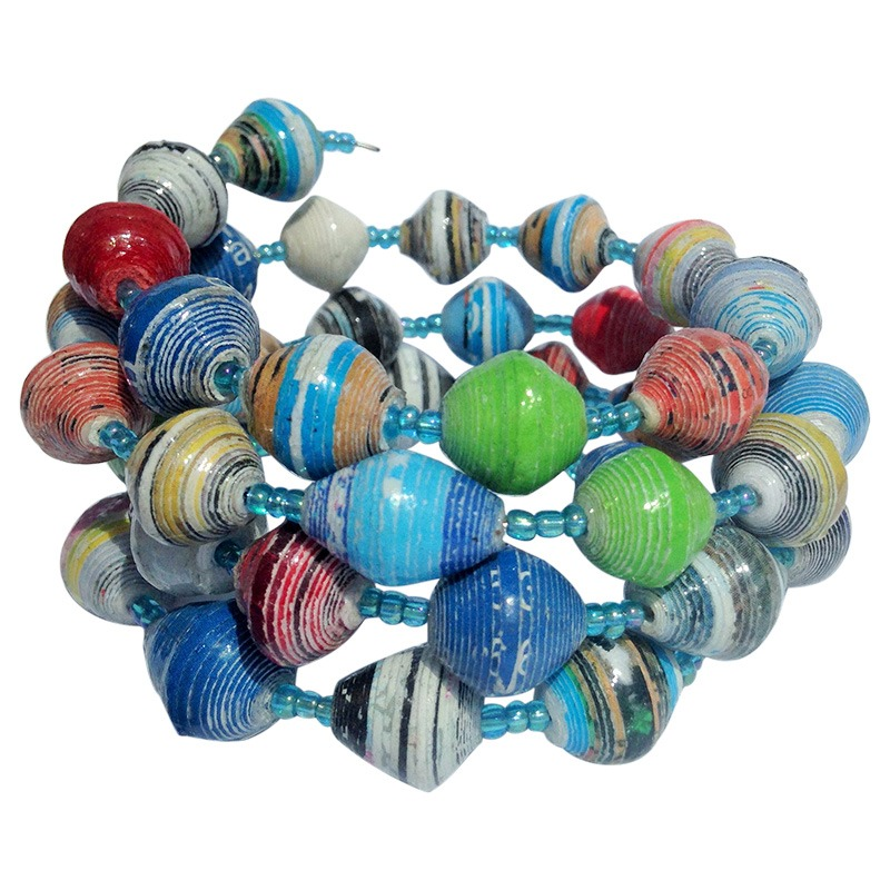 recycled paper coil bracelet