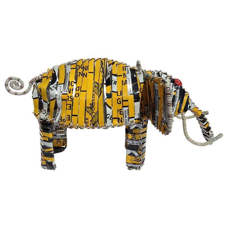 recycled tin elephant