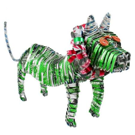 recycled tin lion