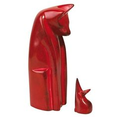 red soapstone cat and mouse