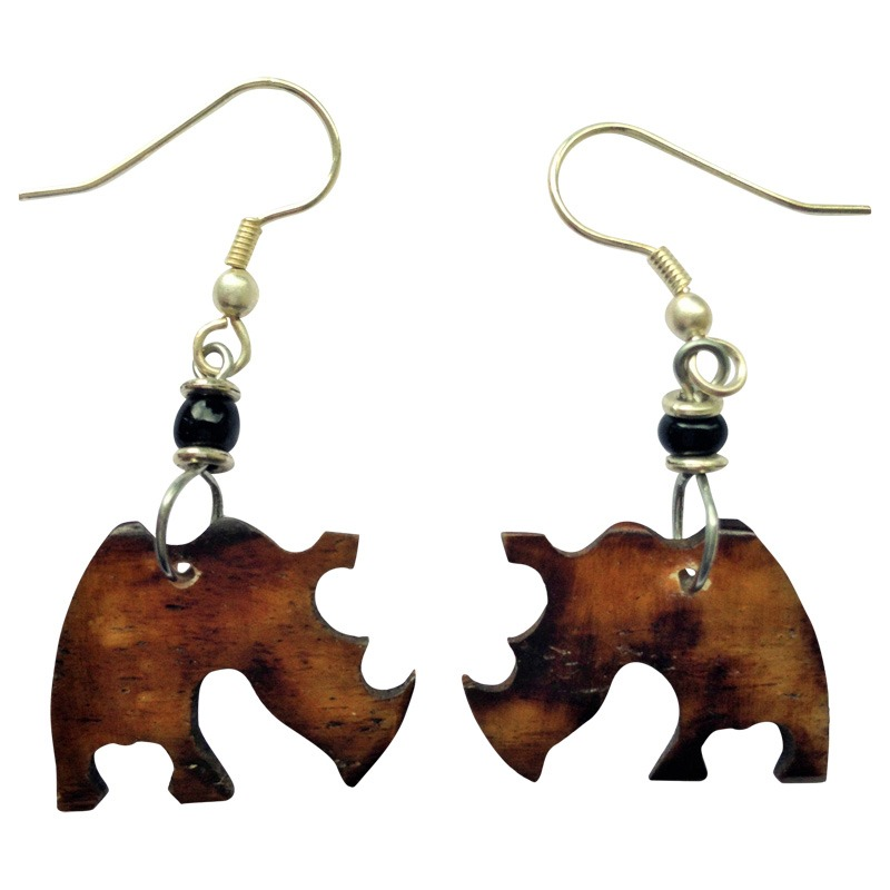 Rhino shape earrings