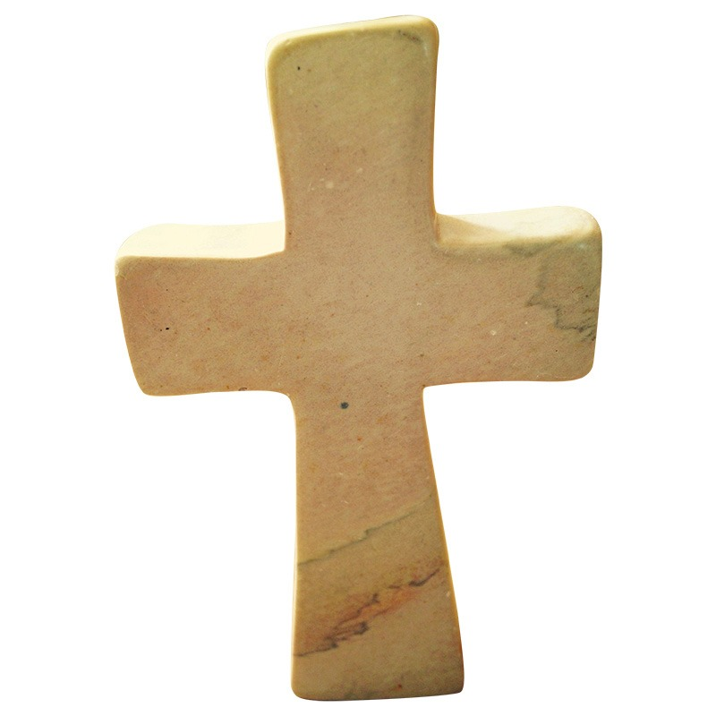 natural soapstone standing cross
