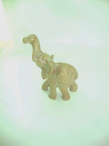 small natural soapstone elephant