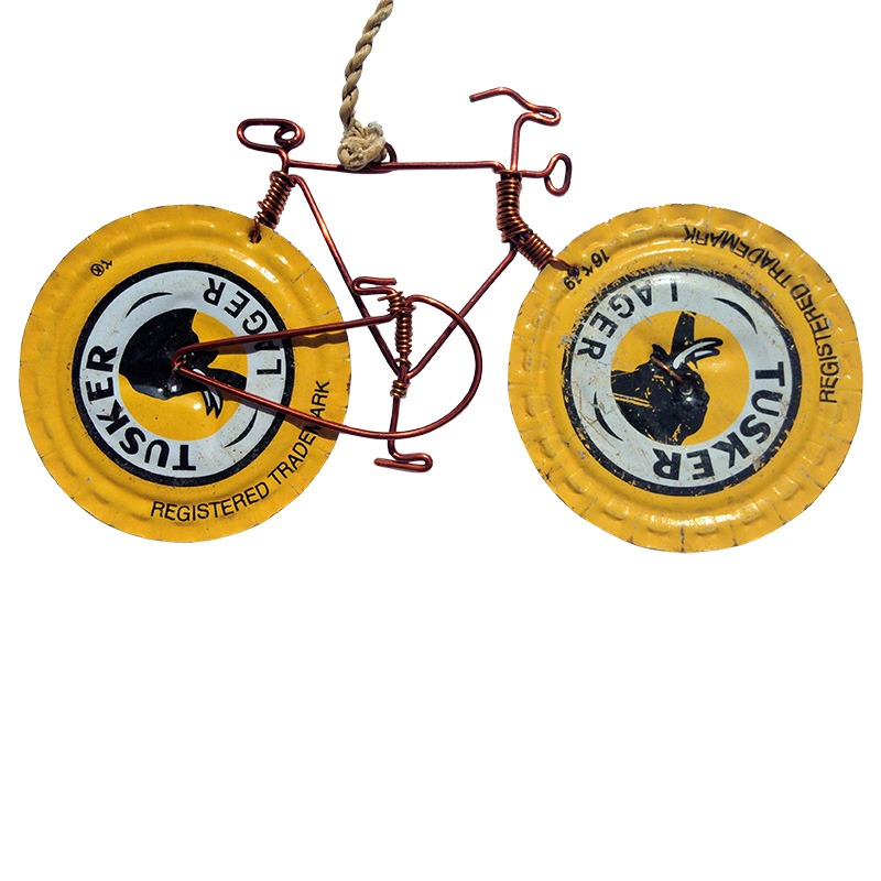 tusker bottletop bike decoration