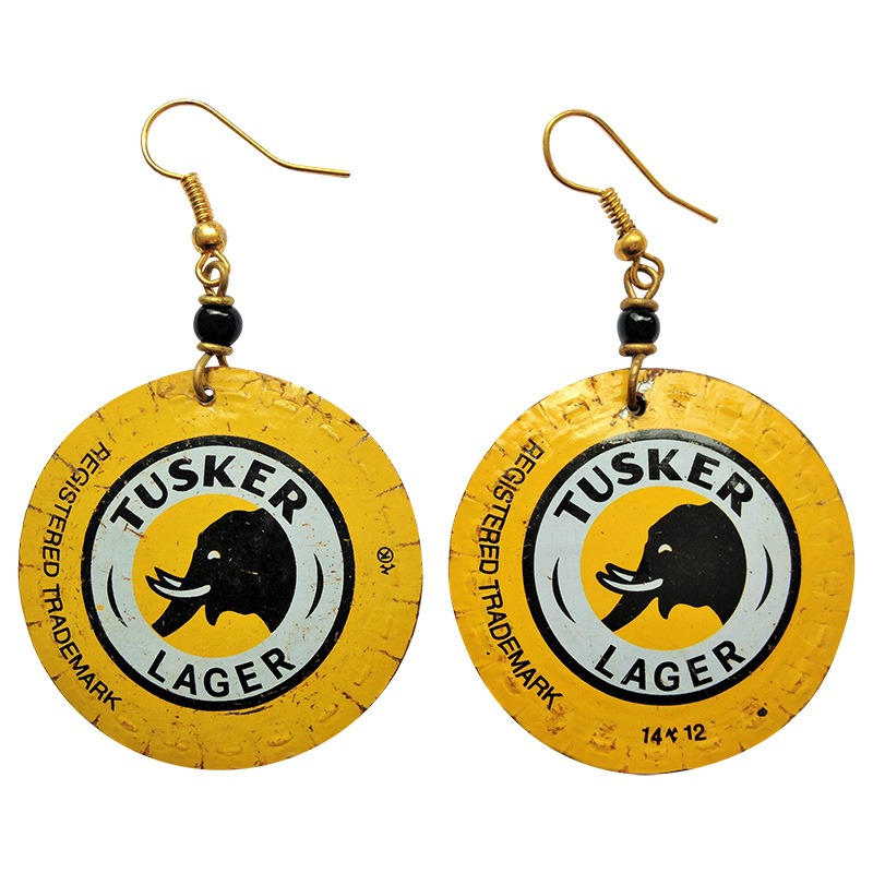 Tusker round bottletop earrings
