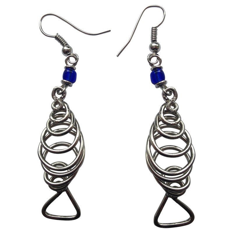 wire fish earrings