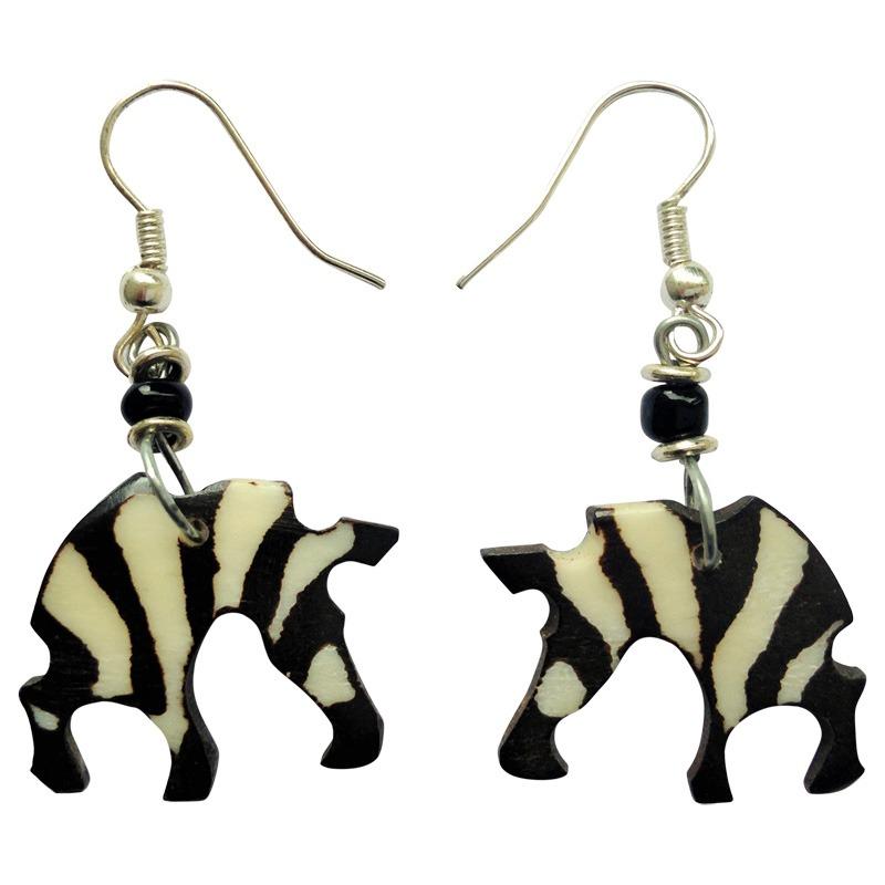 Zebra shape earrings